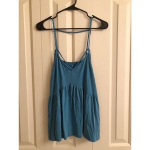 American Eagle strappy blue tank!